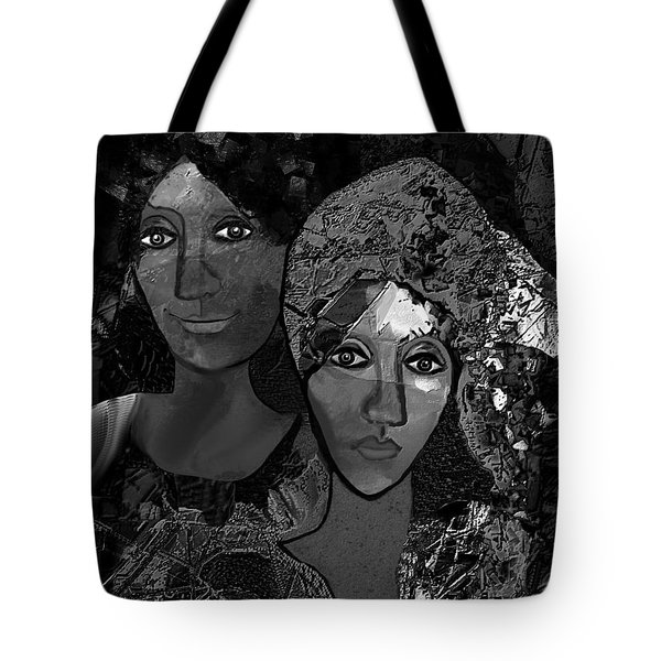 Tote Bag featuring the digital art 452 - Secrets Of Friendship by Irmgard Schoendorf Welch