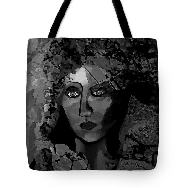 Tote Bag featuring the digital art 455 - Dark Dreamer by Irmgard Schoendorf Welch