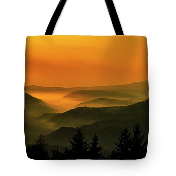 Tote Bag featuring the photograph Allegheny Mountain Sunrise by Thomas R Fletcher