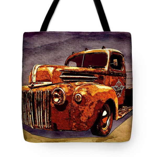 46 Ford Flatbed Redux From The Laboratories At Vivachas Tote Bag