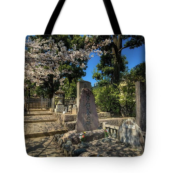 47 Samurai And Cherry Blossoms Tote Bag