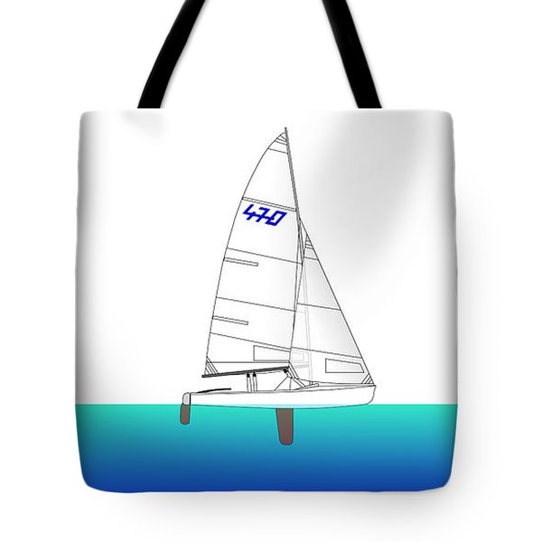 470 Olympic Sailing Tote Bag