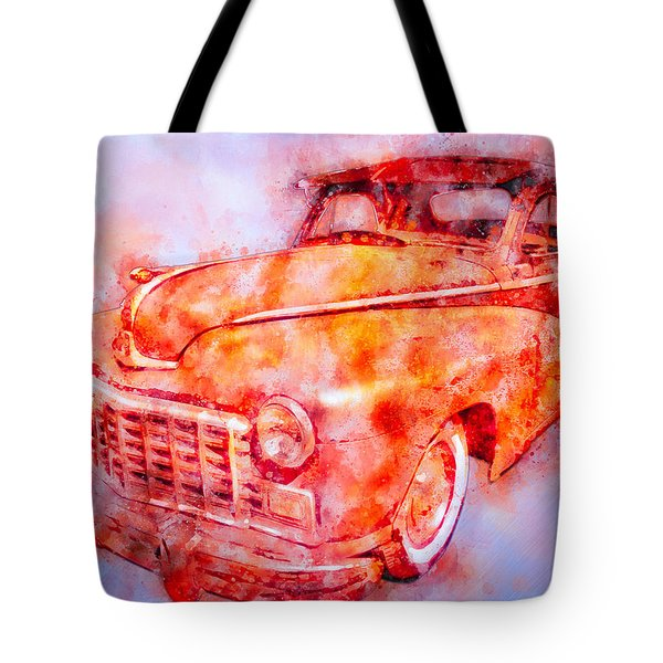 48 Dodge 3 Window Business Coupe Tote Bag