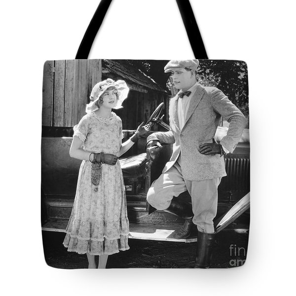 Silent Film Still: Couples Tote Bag by Granger