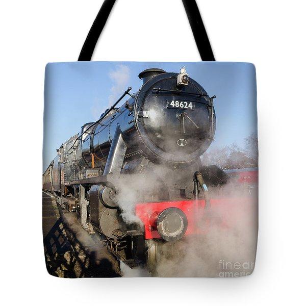 48624 Steam Locomotive Tote Bag by Steev Stamford