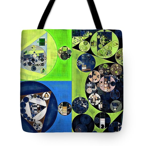 Tote Bag featuring the digital art Abstract Painting - Dark Jungle Green by Vitaliy Gladkiy