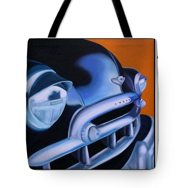 49 Chevy Poster Tote Bag
