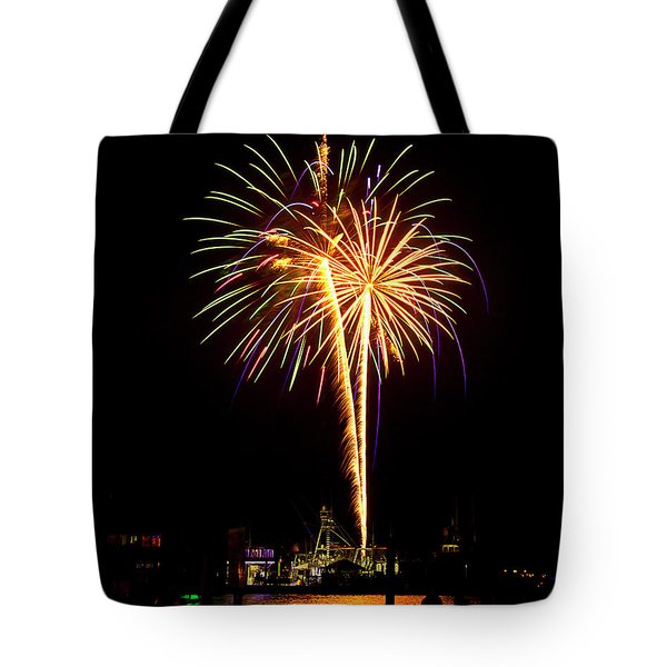 Tote Bag featuring the photograph 4th Of July Fireworks by Bill Barber