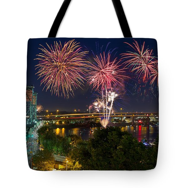 4th Of July Fireworks Tote Bag by David Gn