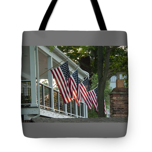 4th Of July Porch Tote Bag