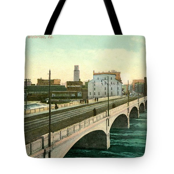4th Street Bridge Waterloo Iowa Tote Bag