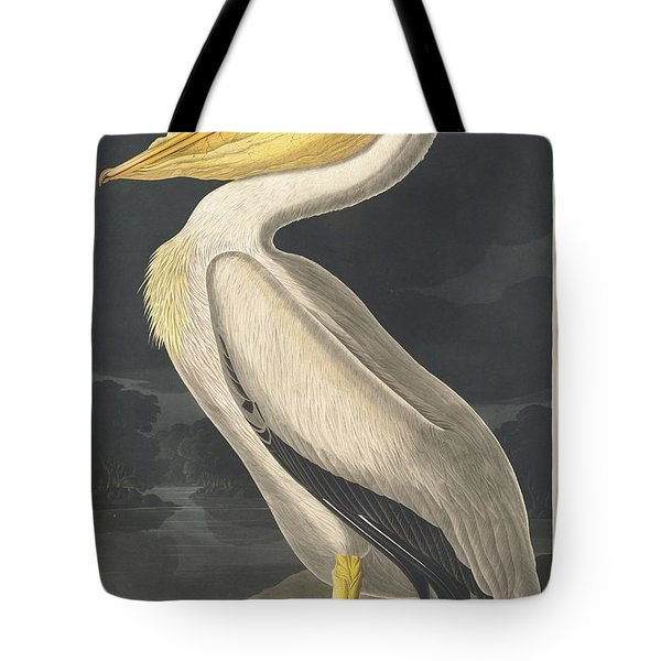 American White Pelican Tote Bag by Rob Dreyer