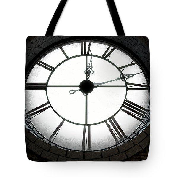 Antique Backlit Clock Tote Bag