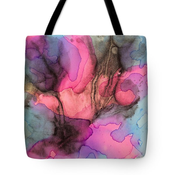5 Art Abstract Painting Modern Color Signed Robert R Erod Tote Bag