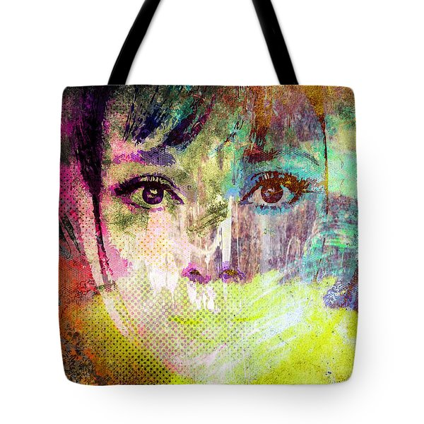 Audrey Hepburn Tote Bag by Svelby Art