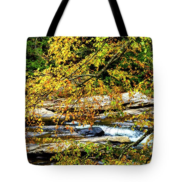 Autumn Middle Fork River Tote Bag