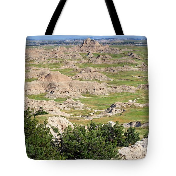 Badlands National Park South Dakota Tote Bag by Louise Heusinkveld
