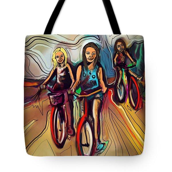 5 Bike Girls Tote Bag