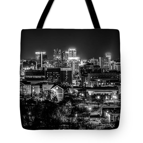 Birmingham Alabama Evening Skyline Tote Bag