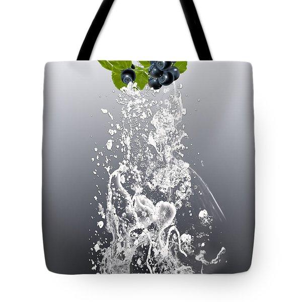 Blueberry Splash Tote Bag