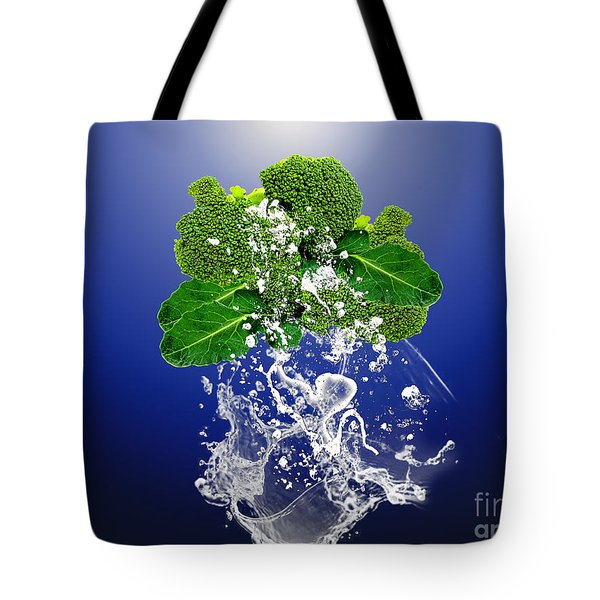Broccoli Splash Tote Bag