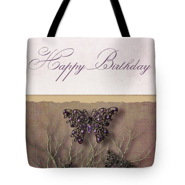 Butterfly Pendants On Branches Tote Bag