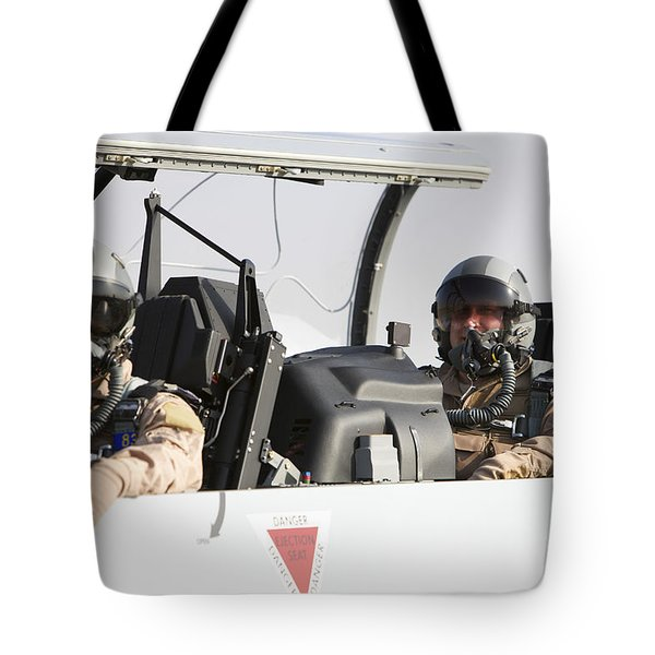 Camp Speicher, Iraq - U.s. Air Force Tote Bag by Terry Moore