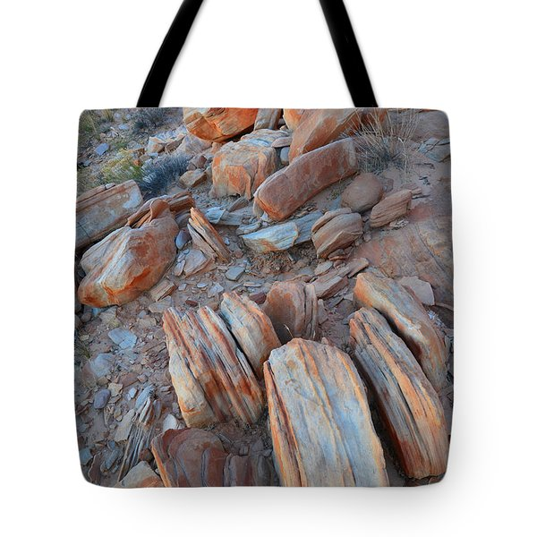 Tote Bag featuring the photograph Colorful Cove In Valley Of Fire by Ray Mathis