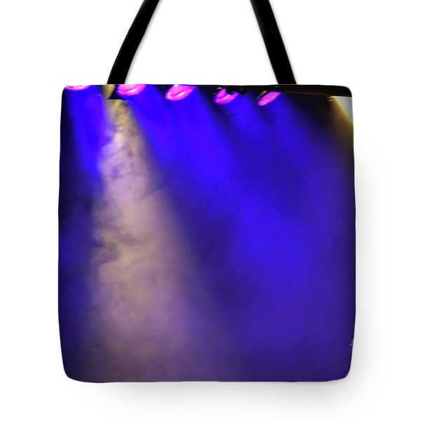 Coloured Stage Lights Tote Bag