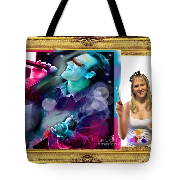 Tote Bag featuring the digital art Cover Art For Gallery by Diana Riukas