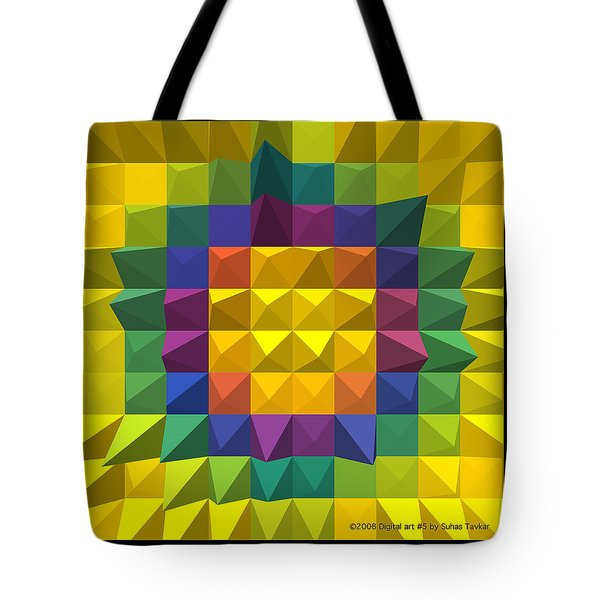 Tote Bag featuring the photograph Digital Art by Suhas Tavkar