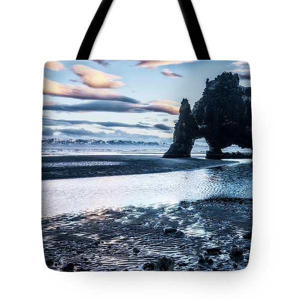 Dinosaur Rock Beach In Iceland Tote Bag