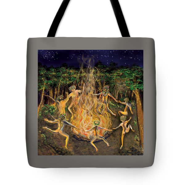 Dancing Naked In The Forest Cd Cover Tote Bag