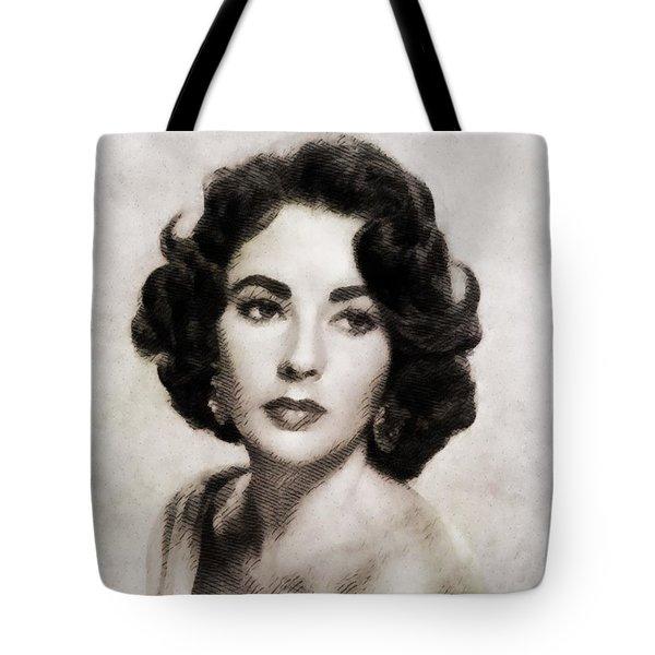 Elizabeth Taylor, Vintage Hollywood Legend Tote Bag by John Springfield
