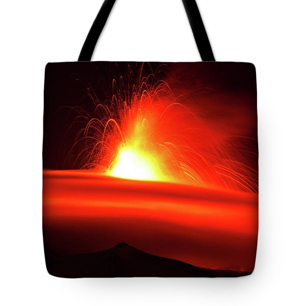 Etna, The Volcano Tote Bag