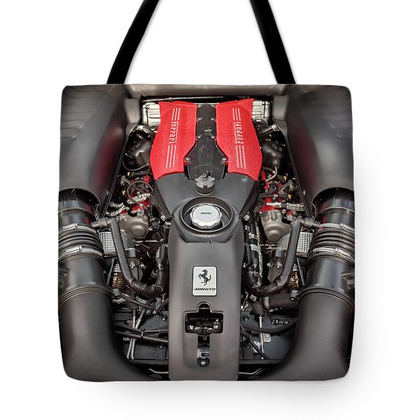 Tote Bag featuring the photograph #ferrari #488gtb by ItzKirb Photography