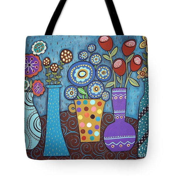 5 Flower Pots Tote Bag