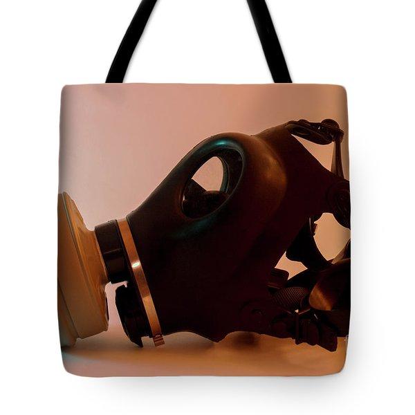 Gas Mask Tote Bag