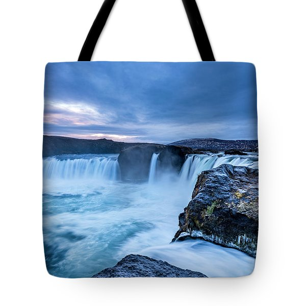 Godafoss Waterfall In Iceland Tote Bag
