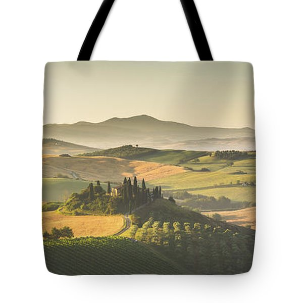 Golden Tuscany Tote Bag by JR Photography