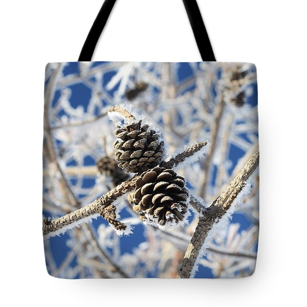 Hoar Frost Tote Bag by Dacia Doroff