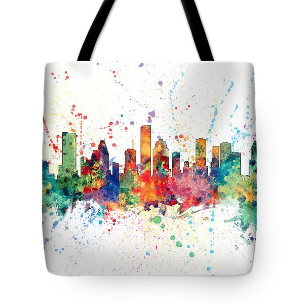 Houston Texas Skyline Tote Bag