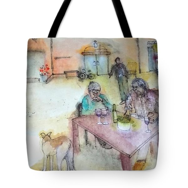 Italy Love Scroll Tote Bag