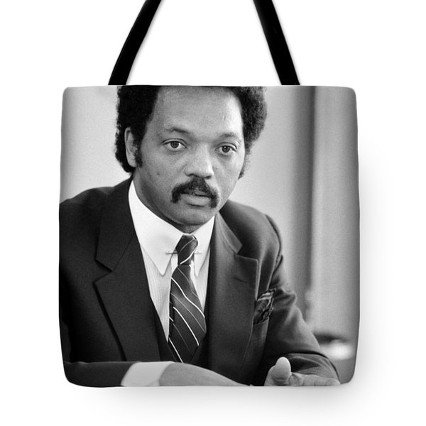 Jesse Jackson (1941- ) Tote Bag by Granger