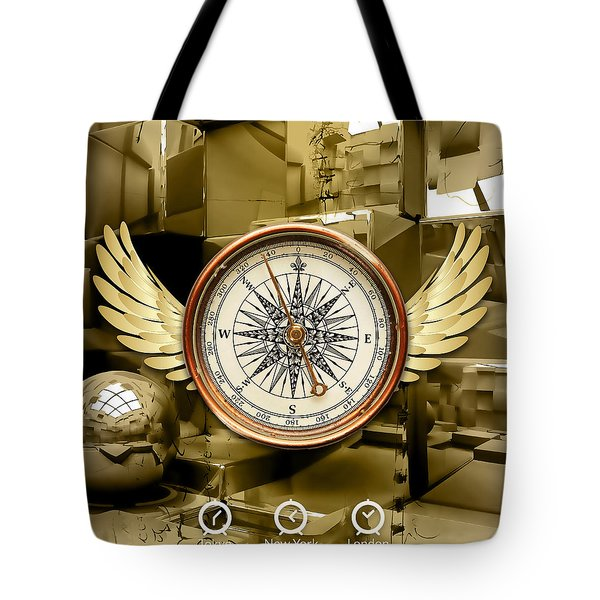 Tote Bag featuring the mixed media Journey by Marvin Blaine