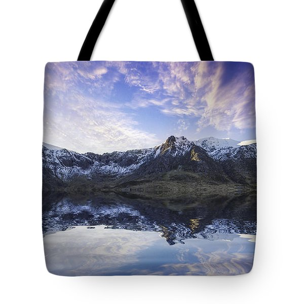 Lake Idwal Tote Bag by Ian Mitchell