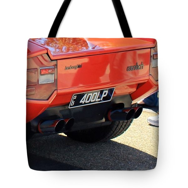 Lamborghini Countach Lp400 Tote Bag