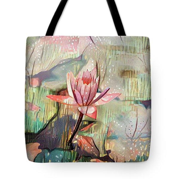 Lovely Waterlilies Tote Bag