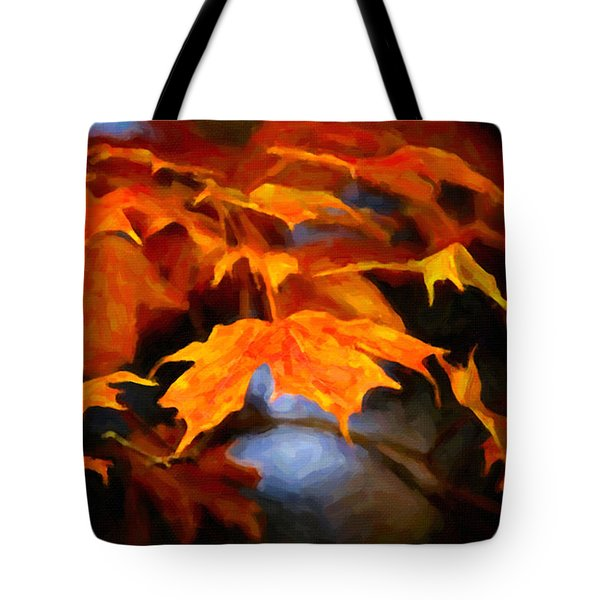 Maple Leaves Tote Bag by Andre Faubert