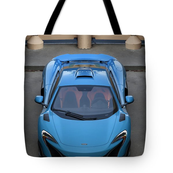 Tote Bag featuring the photograph #mclaren #675lt #print by ItzKirb Photography